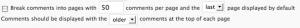 Комментарии в WordPress 2.7