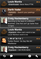 Twitter клиент twitterrific для iphone